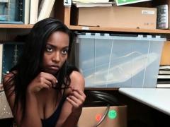 ebony woman thief banged