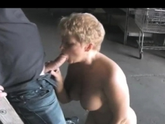 widow milf turns the construction worker on