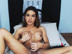 Busty Shemale Masturbates And Cum Solo