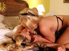 Sex Kittens Alix Lynx And Cherie Deville Lick One Another