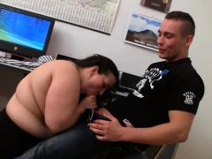 office plumper bangs her client