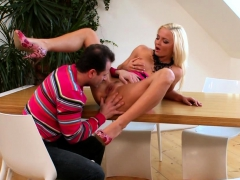 Lewd Blonde Is Fucked While Moaning Loudly
