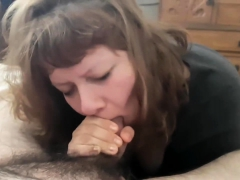 russian milf nikita von james gives a pov blowjob