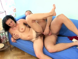Bending over a beautiful mommy and pounding hard