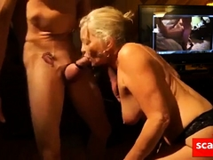 Sex Starved Granny Deep Throats