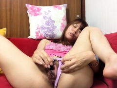 slut asian solo masturbation