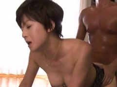 lovely older babe gives sexy blowjob and rides a large pole