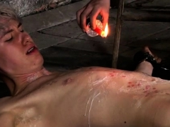 Naked Gay Male Bondage First Time His Manmeat Is Caged