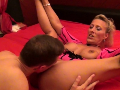 German Milf In First Time Porn Movie With Young Boy