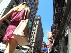 Shy Teen Karine Upskirt Outdoor