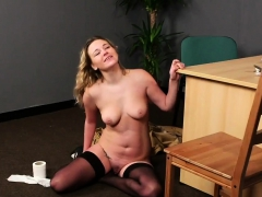 Flirty Peach Gets Cum Shot On Her Face Sucking All The Load5