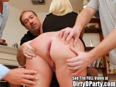 Barely Legal Squirting Blonde Southern Bell Gang Banging