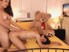 Horny Shemales Wanking And Sucking Dick On Cam