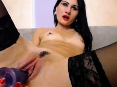 Isabel Playing With Purple Toy In Her Wet Pussy