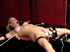 Mature Floozy Gets Teased Whilst Being Bound To Armchair