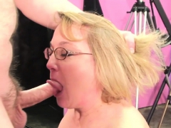 Blonde Granny Has Fun With A Stiff Shaft