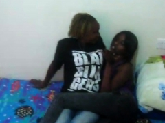African Dykes In Jeans Suck Pussy Lips