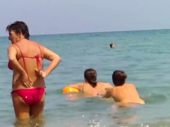 Topless European Teens Voyeur Beach Video