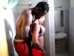 Real African Amateur Slut Toilet Fuck
