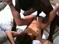 Petite Beauty Takes Black Cock