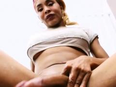 Ebony Trans Girl Chyna Gets Herself Off