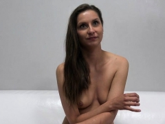 sexy pornstar casting and cumshot