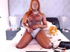 Big Tits Ebony Tranny Jerks