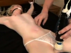 Blonde Dominant Toys With Guy Small Dick
