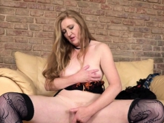 fresh mature angelica playing with herself