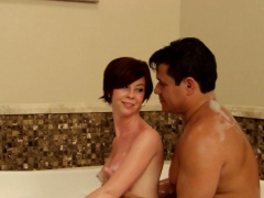 horny swingers jump in the tub for some sexy love making