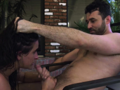 Brunette Spitted And Fucked By Bf