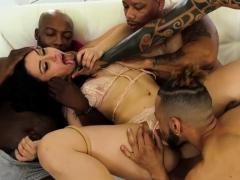 Latina Banged Hard By Four Black Dicks