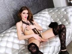 Lovely Trans Girl Vixxen Goddess Pleases Herself