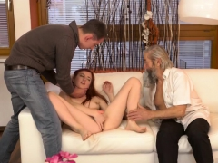 Milking old man xxx Unexpected practice with an older