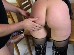 dominated-german-housewife-in-latex-punished-in-kitchen