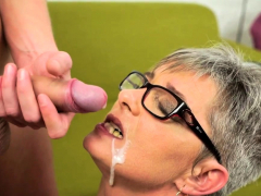 horny pensioner facial