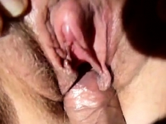amateur twat close up humping creampie