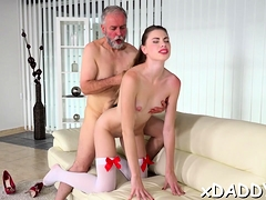Old Fellow Knows How To Entice And Fuck A Legal Age Teenager