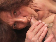 very old girlfriends mom rides his penis