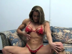kinky pro female bodybuilder maria g peek-a-boo strip