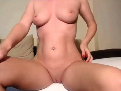 european with big boobs fucks a glass dildo