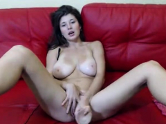 big titted babe solo masturbation