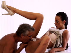 old4k. flawless secretary seduces old guy to get another…