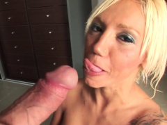 blonde babe wants his massive penis