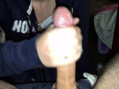 girl stroking big penis to cum twice
