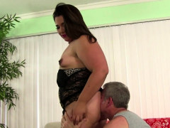 beautiful fatty rides penis after oral action