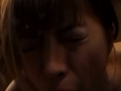 oriental mature plays with water on her moist fur pie