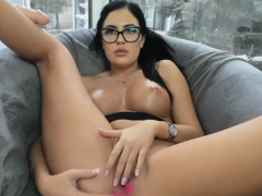 nerdy-busty-webslut-plays-with-her-pink-fuckhole
