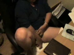 Great masturbation of my mom at PC caught by hidden cam
