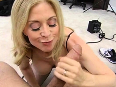 Horny busty mature blonde sweetie Nina Hartley gets hammered